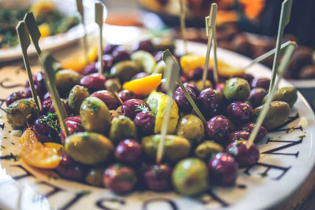 We use fresh olives